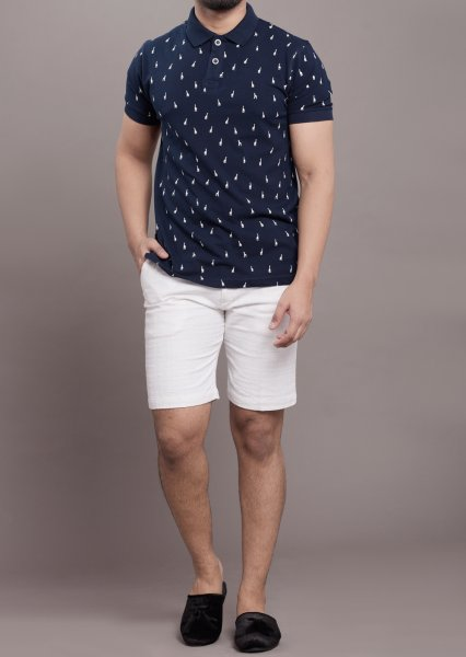 Printed polo tshirt