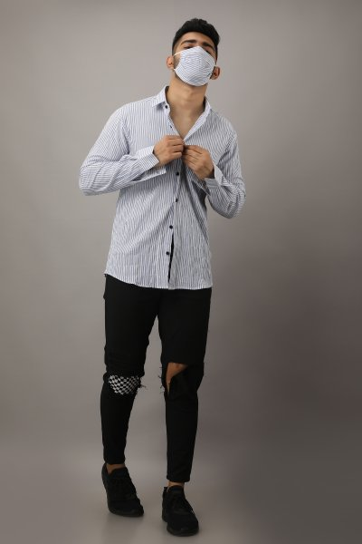 Men's Stiped Casual Shirt