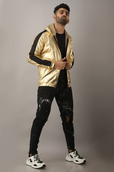Men's Golden Sequin Jacket