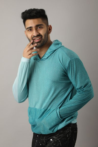 Men's Shaded Teal Hoodie