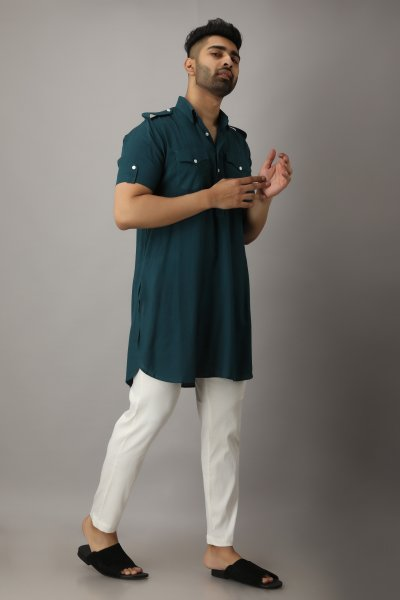 Men's Green Pathani Kurta