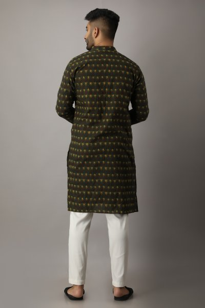 Men's Printed Ethnic Kurta