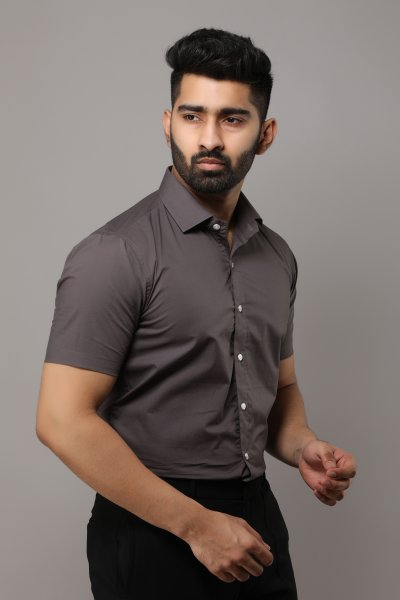 Men's Slim Fit Half Sleeve Shirt
