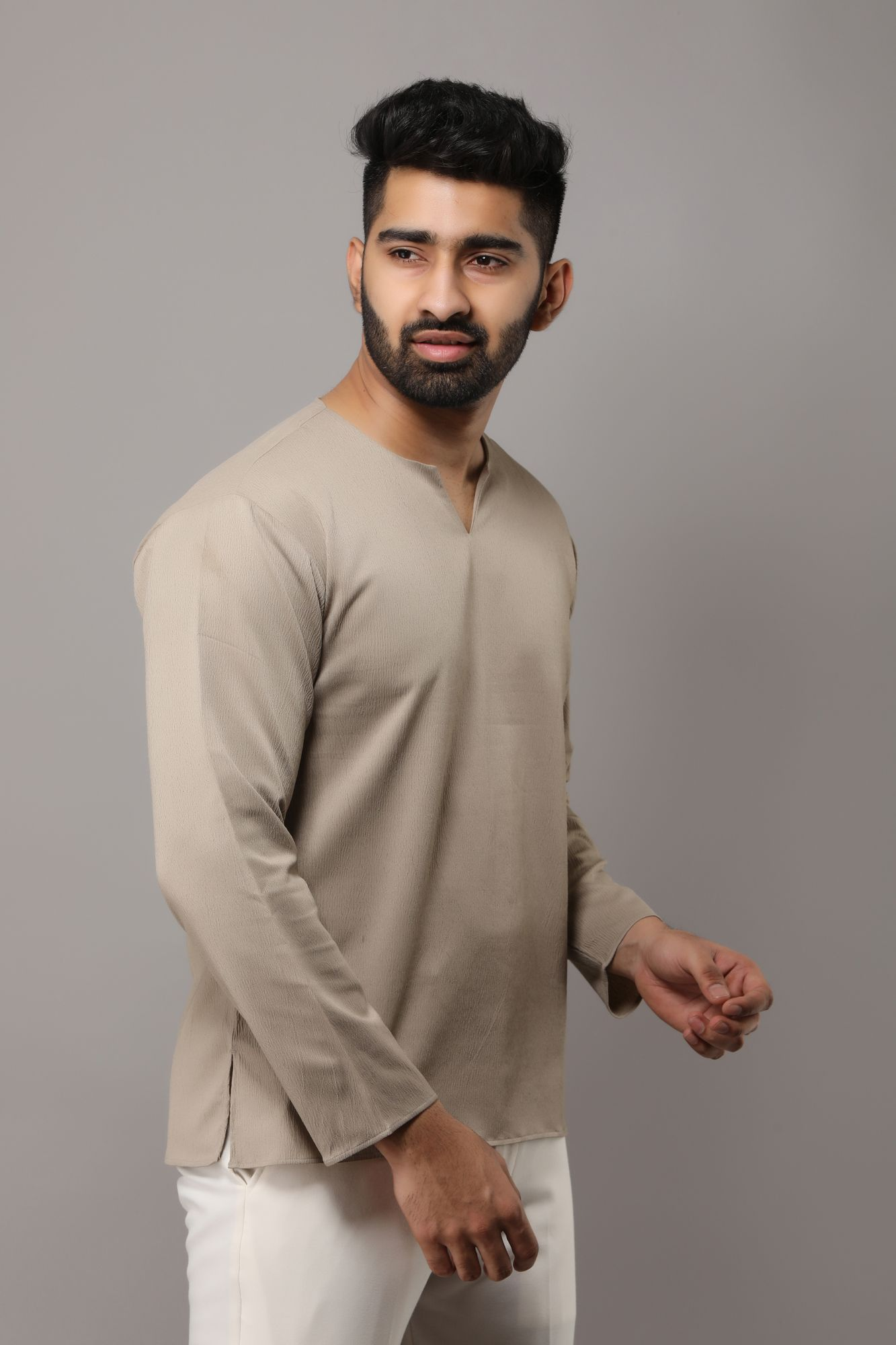 Textured Short Kurta