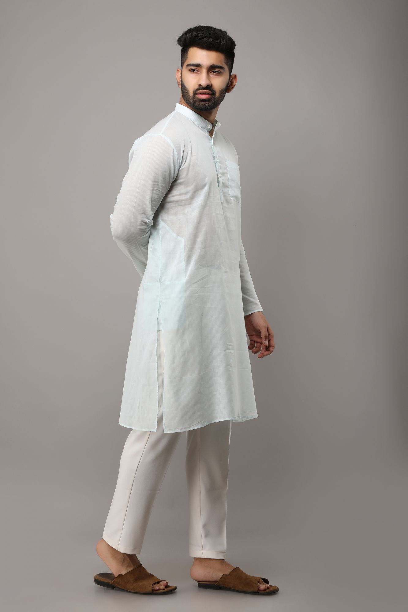 Long Striped Kurta