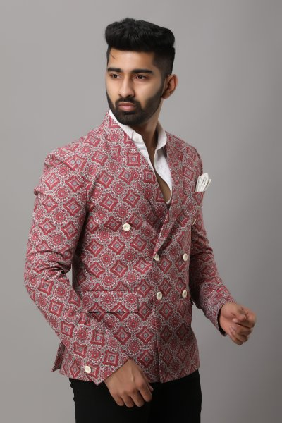 Men's Printed Blazer
