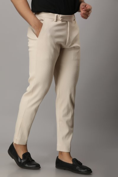 Men's Textured Tailored Fit Pants