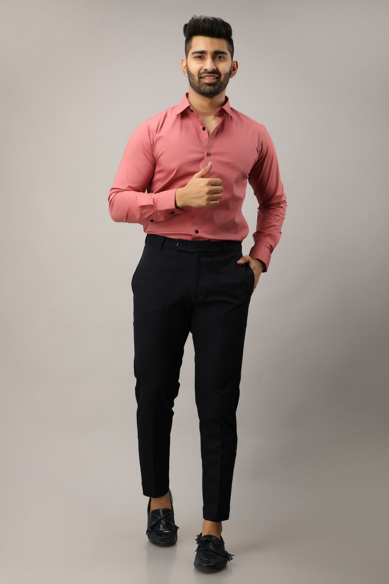Slim Fit Shirt In Pink