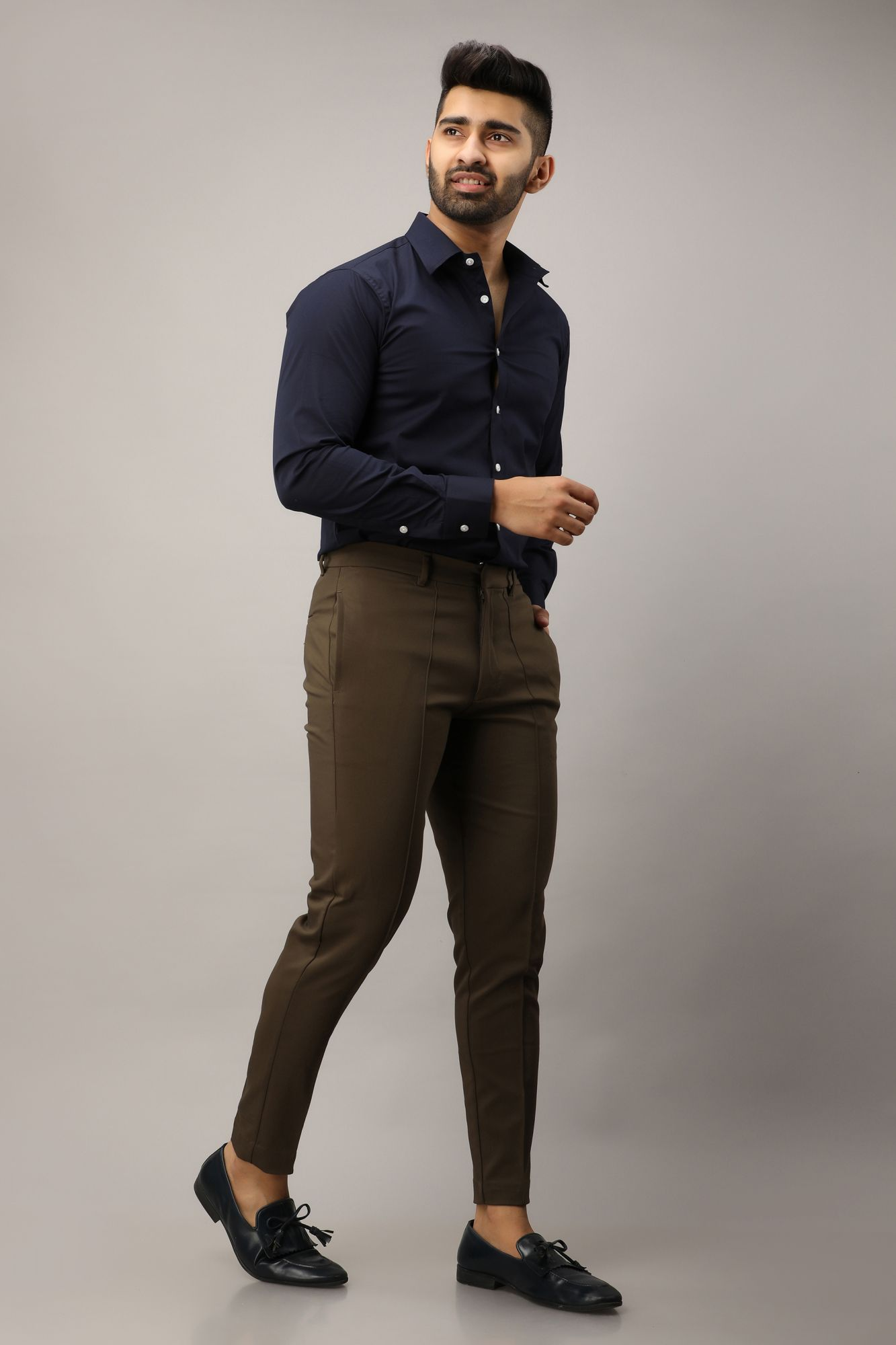 Carob Tapered Fit Pants