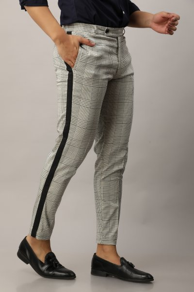 Men's Tapered Check Pants