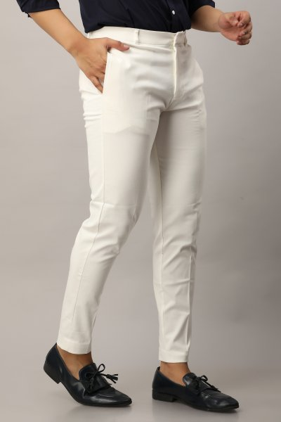 Men's Carrot fit chinos in white