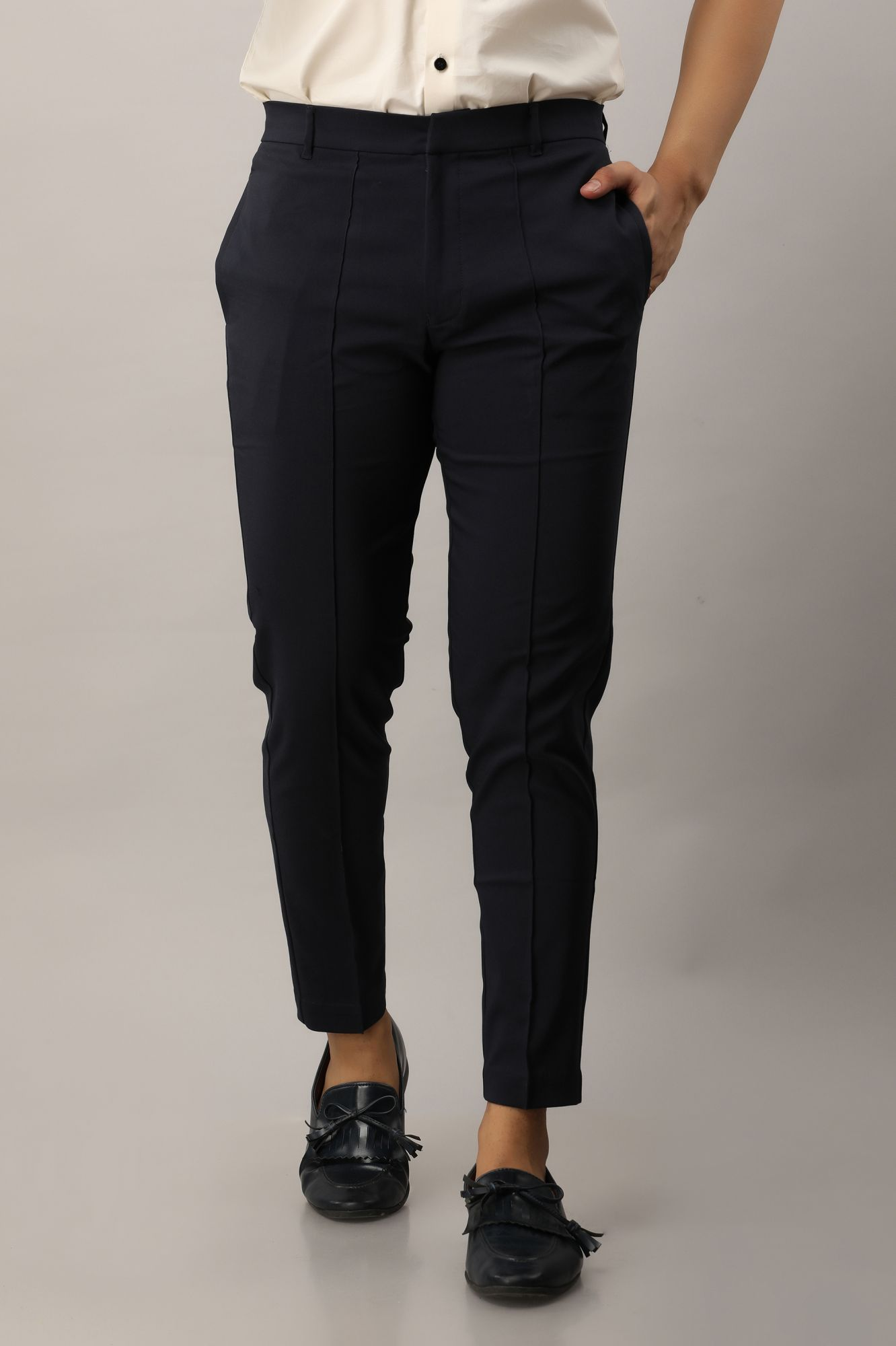 Tapered Fit Pants in Blue