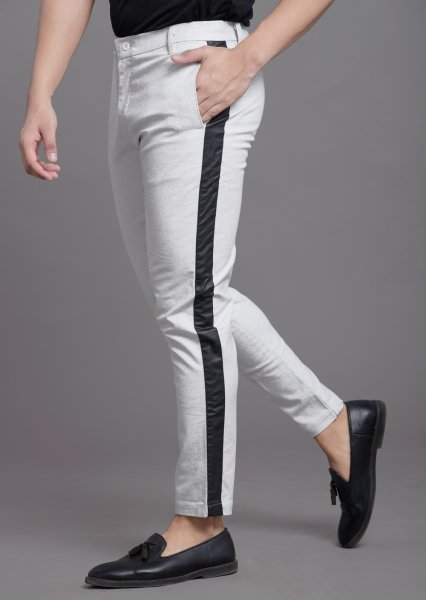 Side taped pants