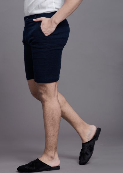 Men's Textured shorts in blue