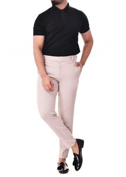 Men's Ivory tailored fit pants