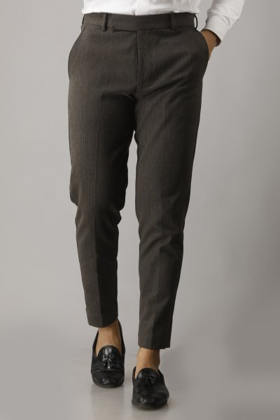 Men's Textured Tailored Pants