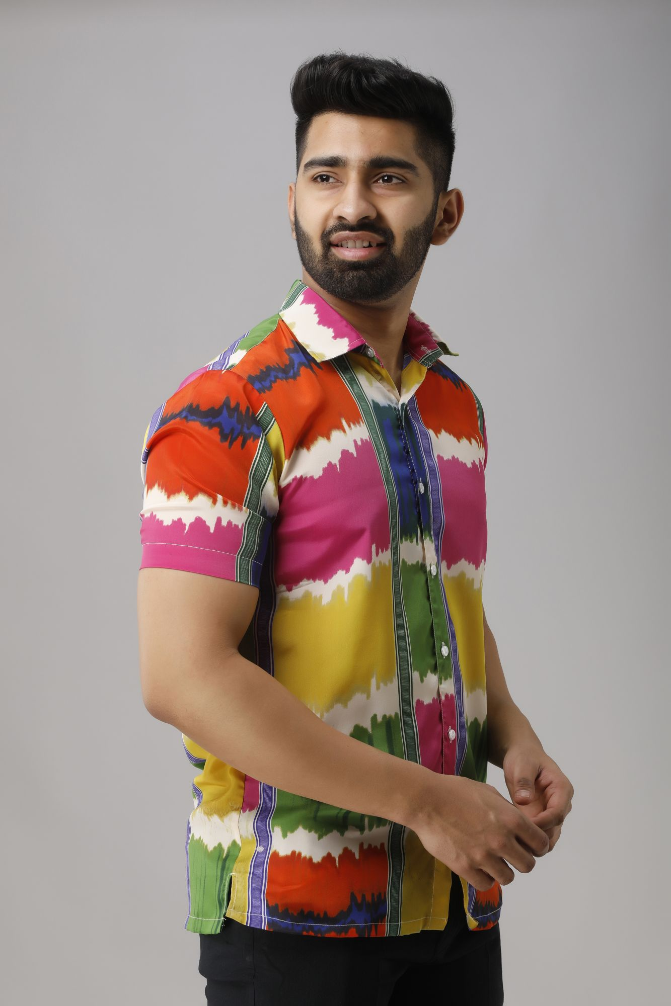 Multicolor Flowing Shirt