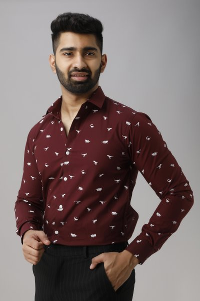 Men's Printed Slim Fit Shirt