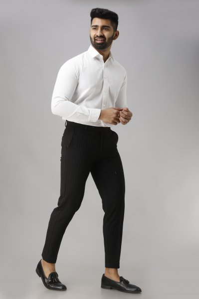 Men's Textured Formal Shirt in White