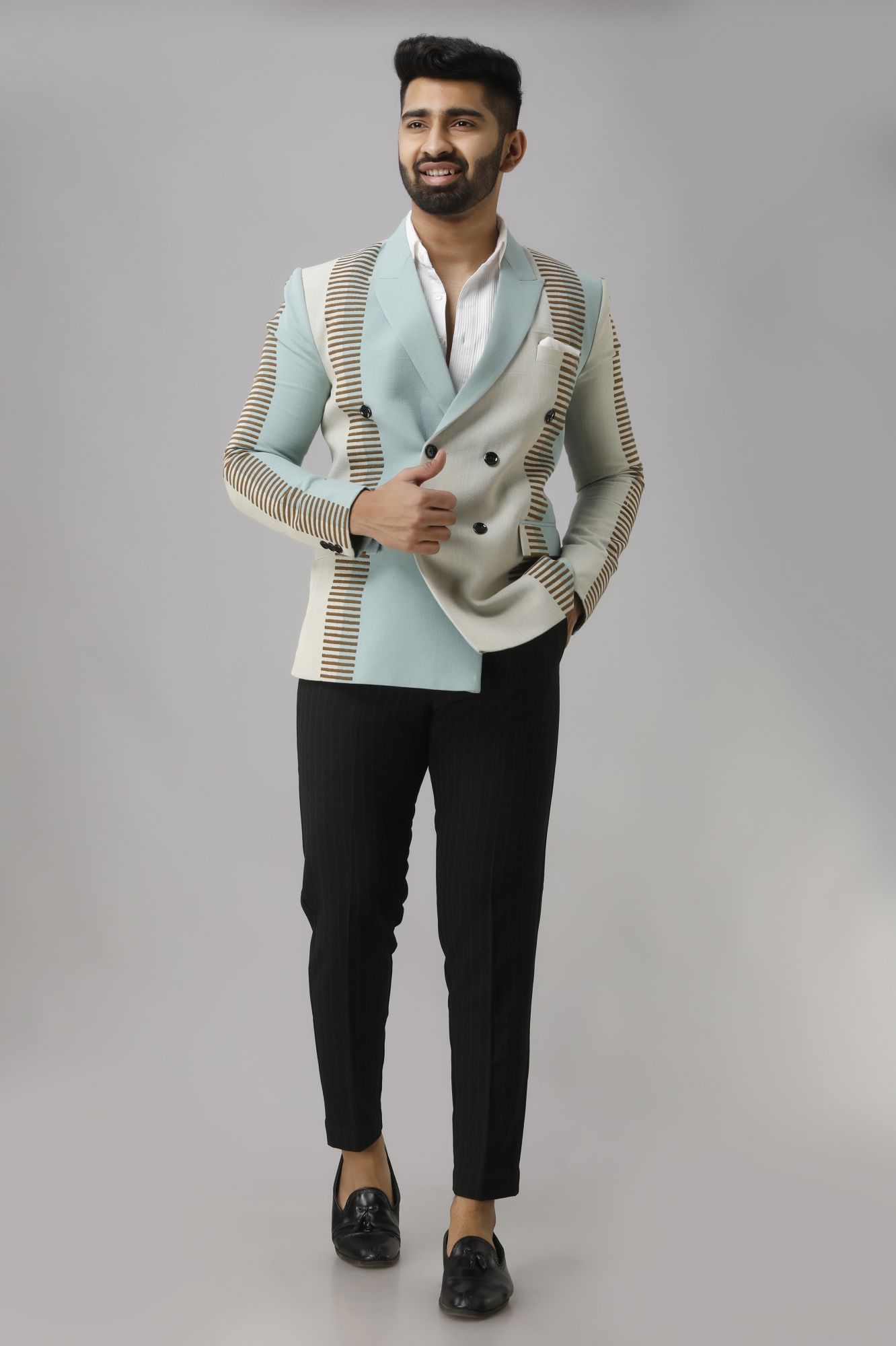 Color Block Blazer