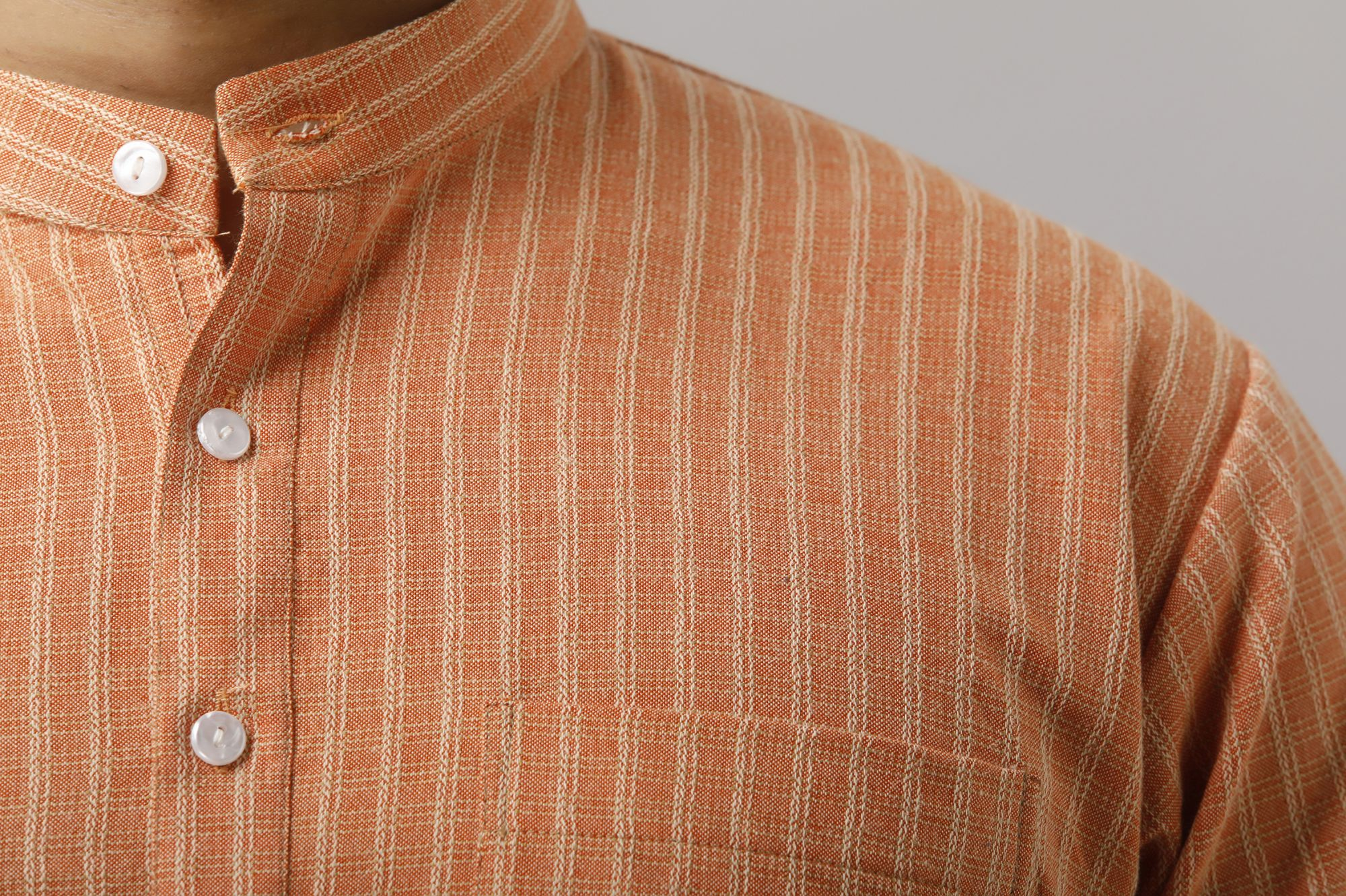 Textured Orange Kurta