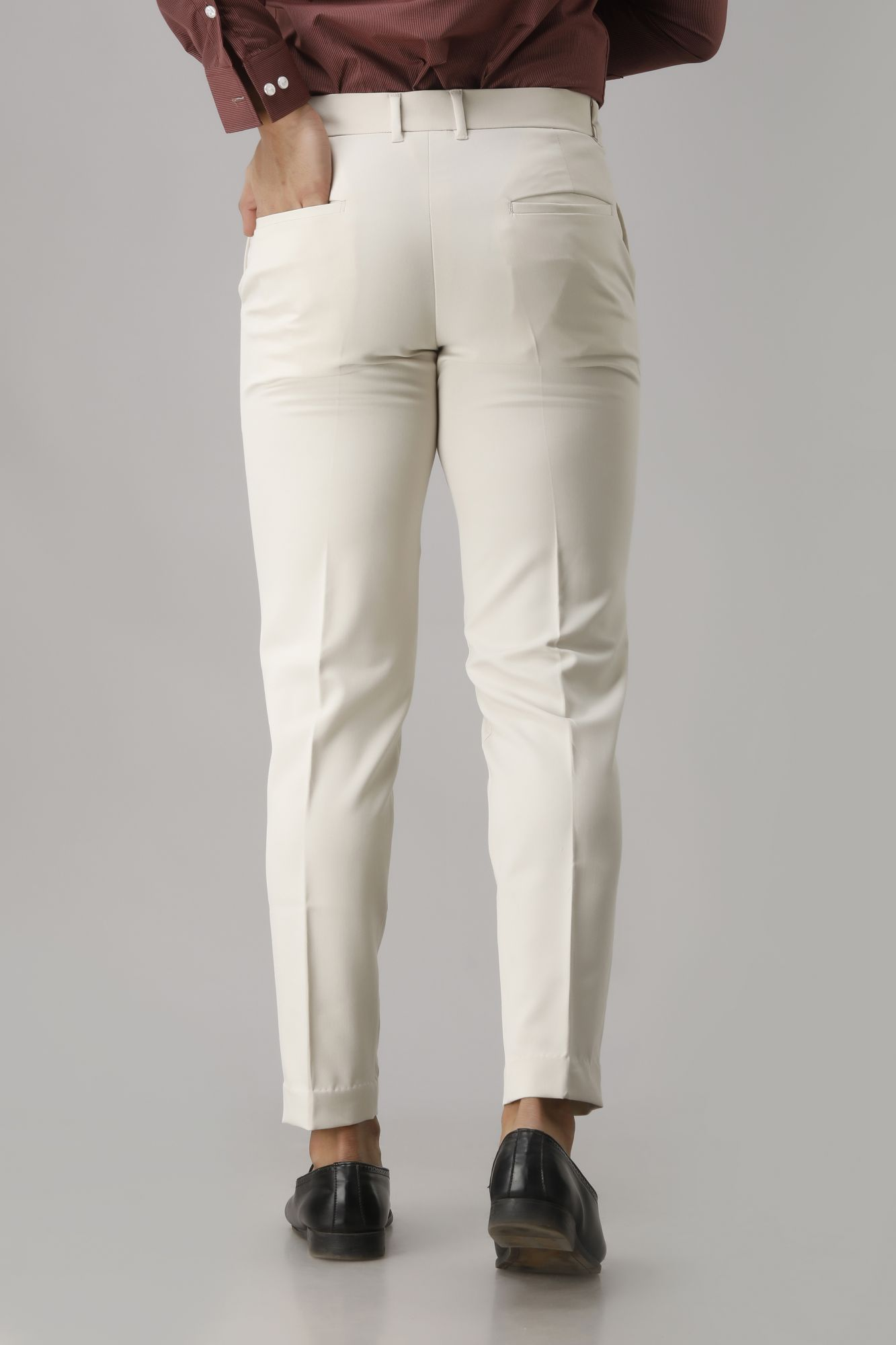 Men's Off-White Flowing Pants