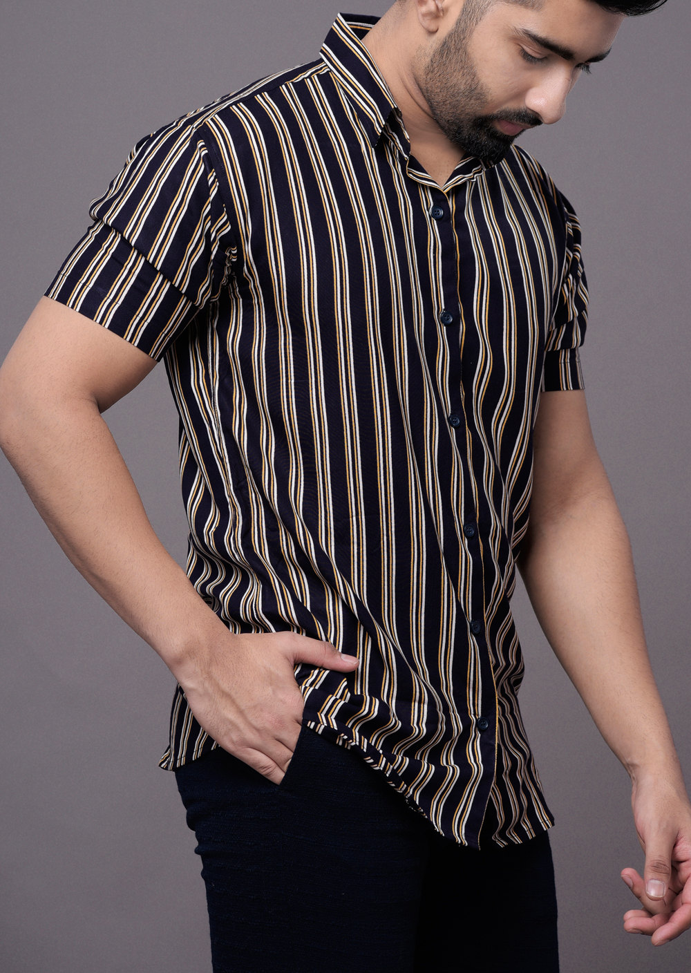 Flowing striped shirt