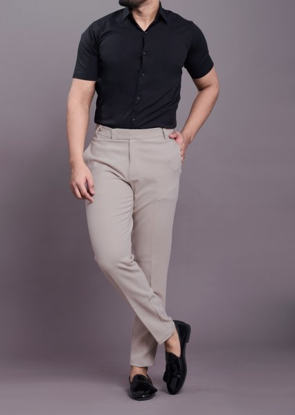 Formal slim fit shirt in black