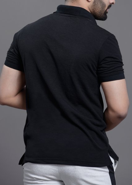 Men's Polo tshirt in solid black