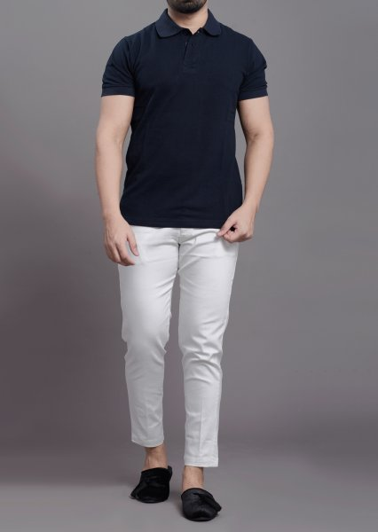 Polo tshirt in solid blue
