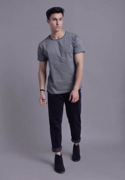 Men's Printed Co-ord Tshirt