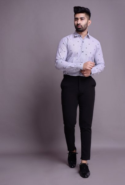 Men's Printed tucked shirt