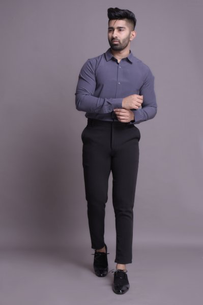 Men's Slim fit tucked shirt