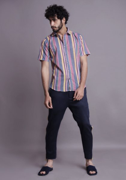 Multicolored striped shirt