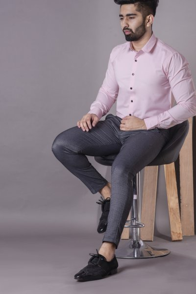 Men's Formal slim shirt in pink