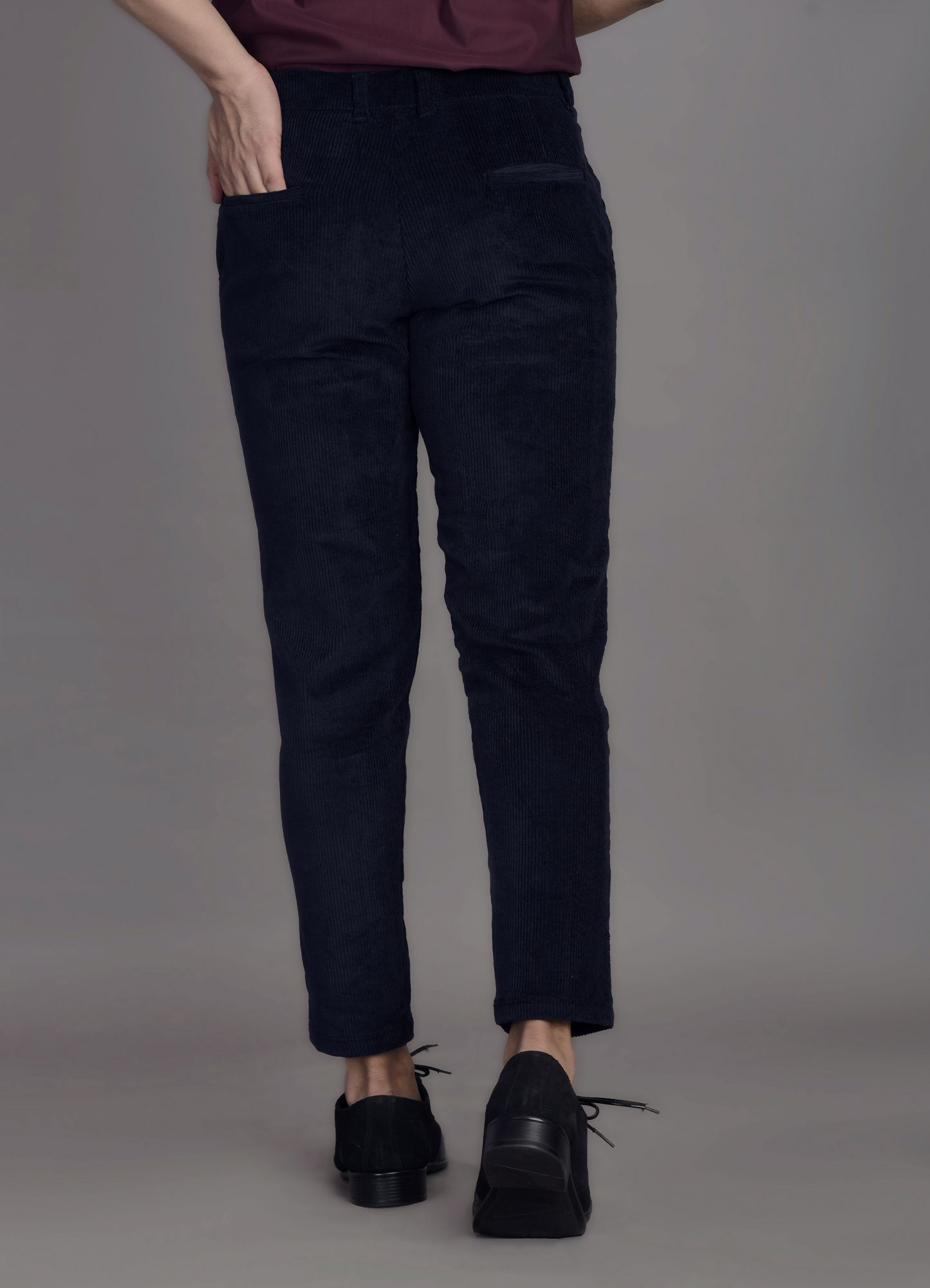 Corduroy Ankle Pants in Blue
