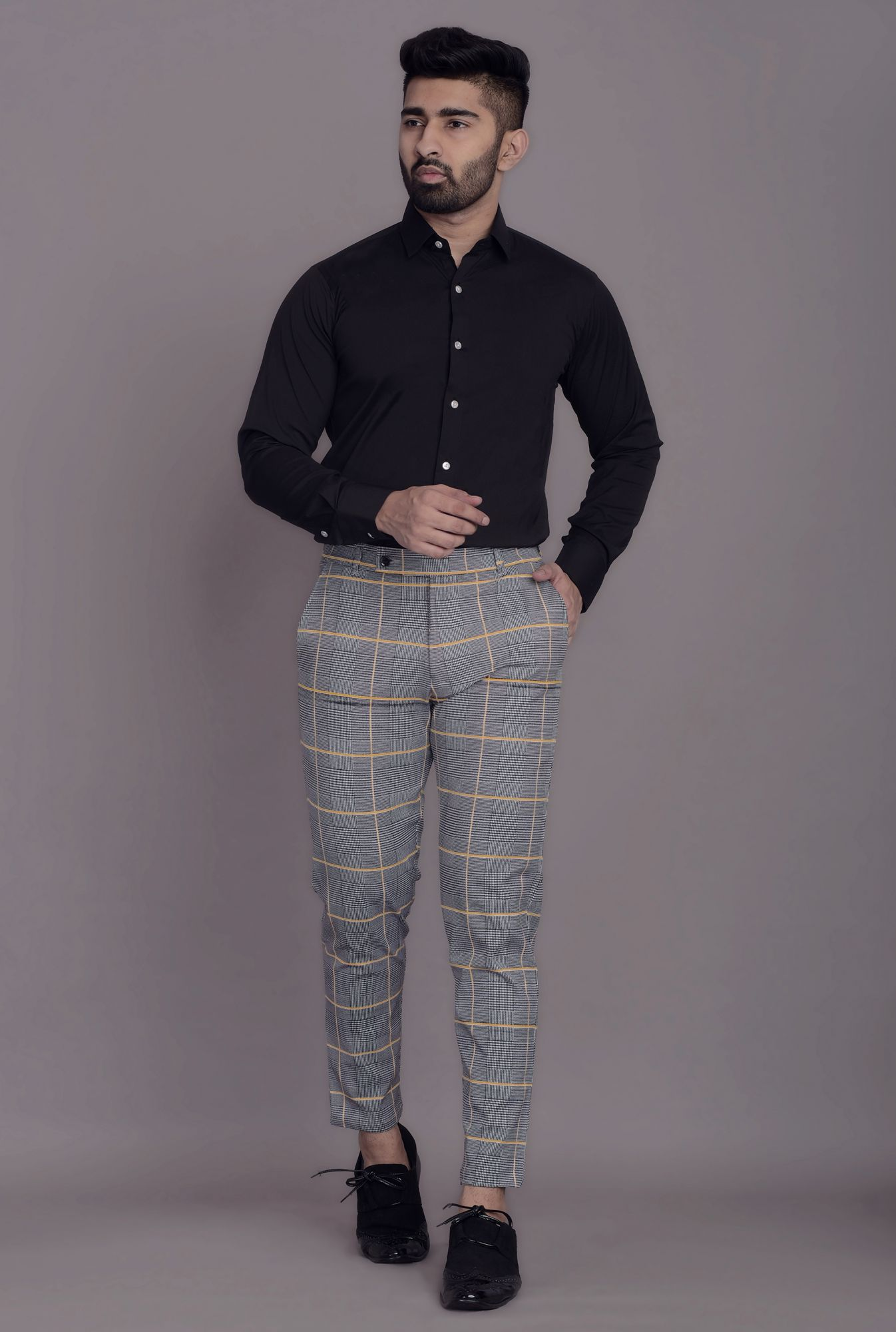 Tapered Checks  Pants