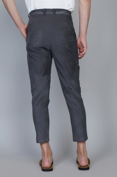 Men's Corduroy Ankle pants in Grey