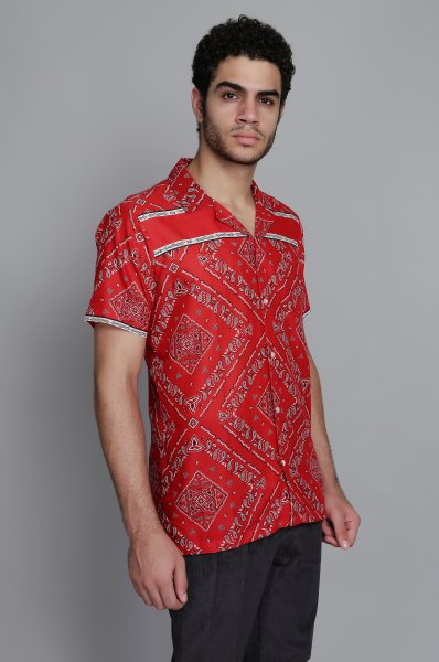 Men's Printed Straight Shirt