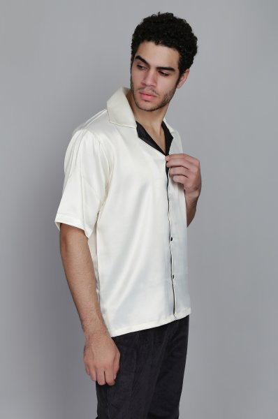 Men's Satin Oversized Shirt