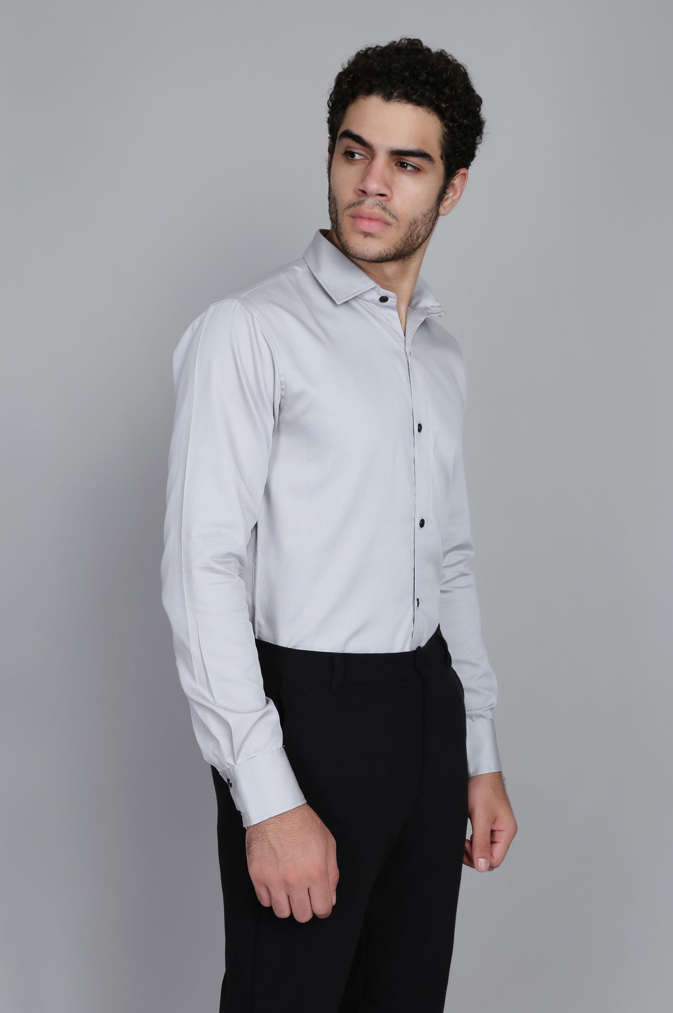 Slim fit Shirt in Grey