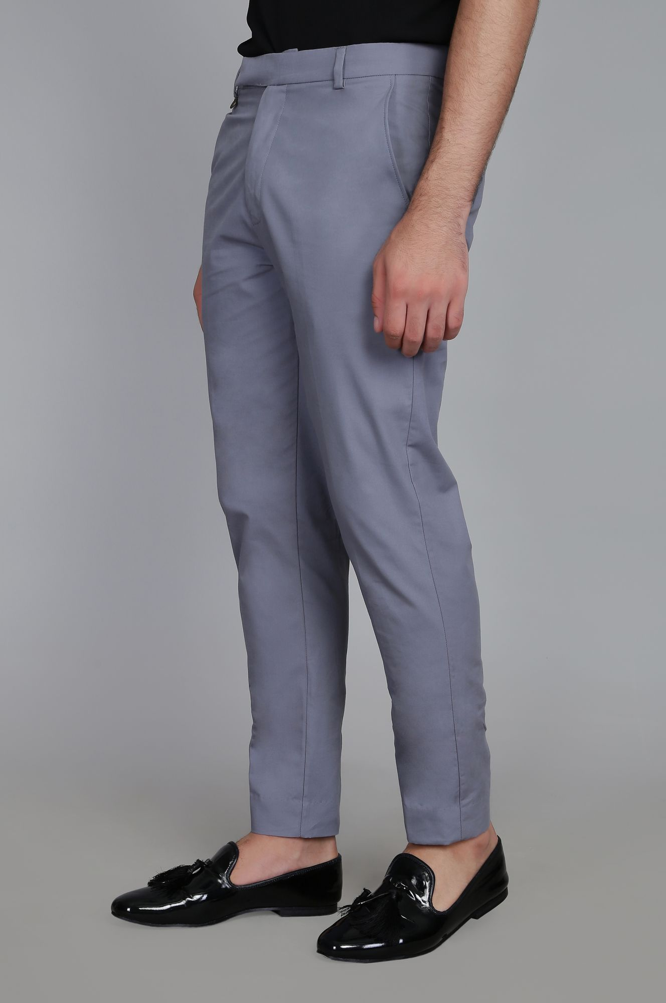 Grey Tailored Fit Pants