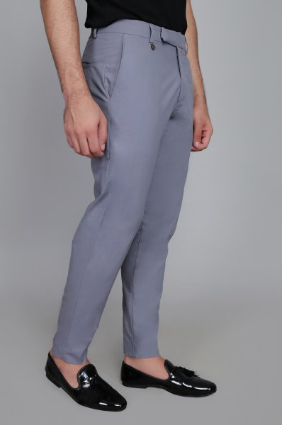 Men's Grey Tailored Fit Pants