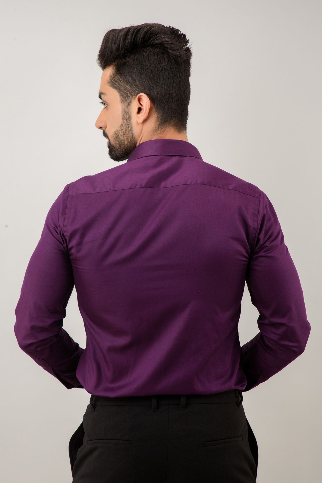 Slim Fit Shirt In Purple