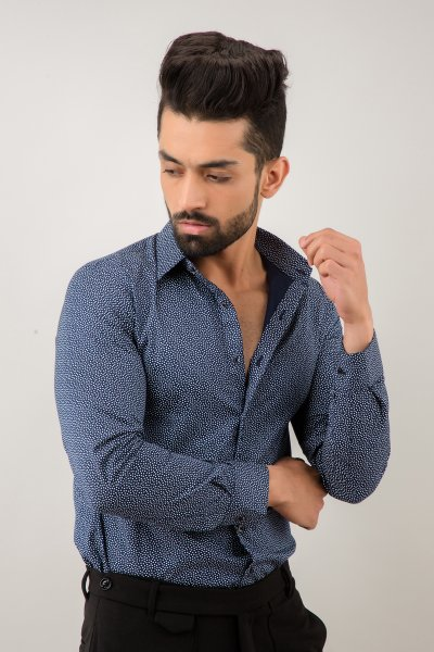 Slim Fit Shirt In Blue