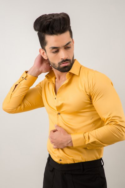 Slim Fit shirt In Yellow