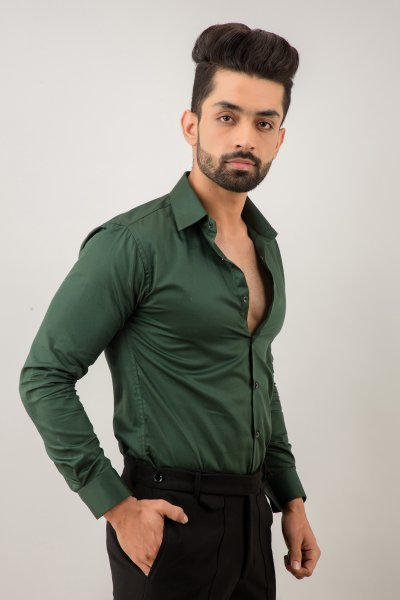 Slim Fit Shirt In Green