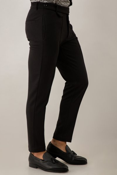 Tapered Fit Black Pants