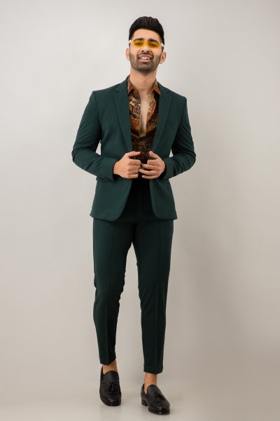 Olive Green TuxedoBlazer