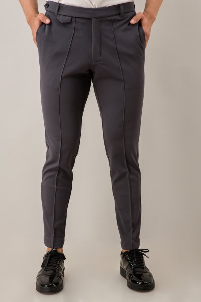 Tapered Fit Pants In Grey